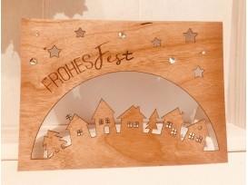Weihnachtskarten Motiv Häuser