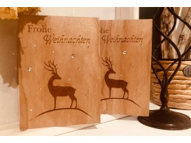 Weihnachtskarten Motiv Hirsch